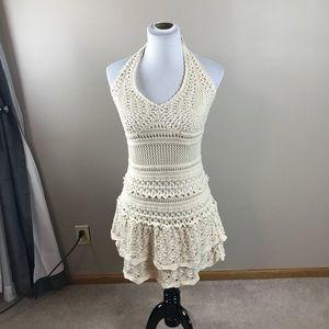 Moda International Crocheted Halter Dress